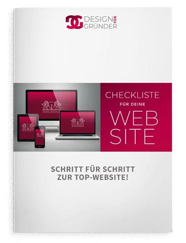 Checkliste Website, Design für Gründer